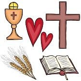 15913209-religion--set-of-religious-symbols--cross-chalice-heart-book-and-grain